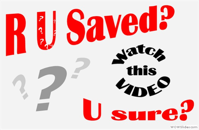 The enemy knows Yeshua, the WORD, goes to Church-but he is NOT saved! (click to watch)